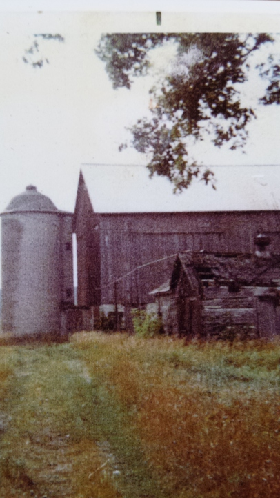 The old Meyer barn as photographed in 1968.